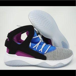 Herren Nike Air Flight Huarache Schwarzanthracite Violett